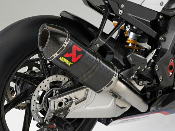 The HP4 Race's Carbon Akrapovic Race Exhuast System