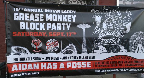 Indian Larry had a block party across the street
