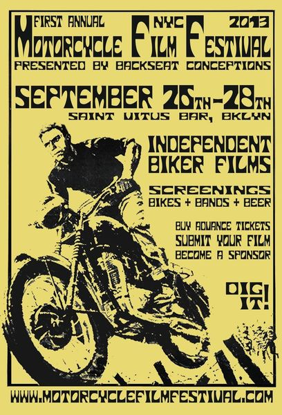 Motorcycle Film Festival Sept 25 - 28, 2013 in Brooklyn NY