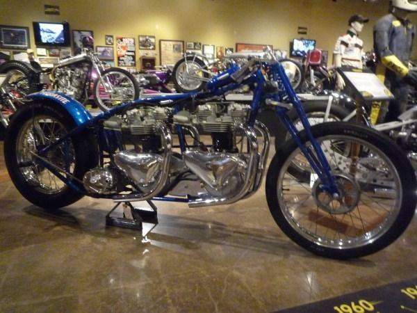 Dual Triumph 650's in a Drag Bike