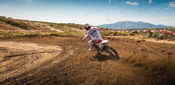 2013 Honda CRF450R - on a dirt track