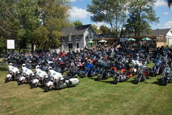 The Police Memorial Ride, Parked Bikes
