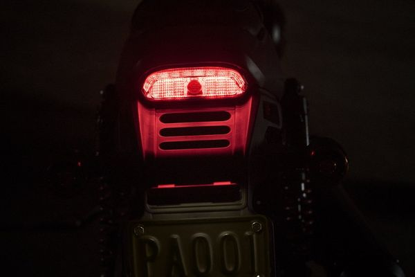 Harley has finally gotten on the LED train with the Street Rod's tail-light