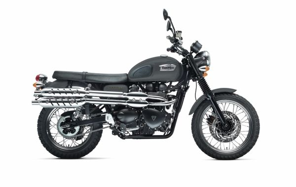 2013 Triumph Scrambler -right side view