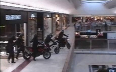Axe wielding bikers storm shopping centre-Telegraph2