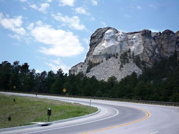 Mount Rushmore from the Peter Norbeck Scenic Byway