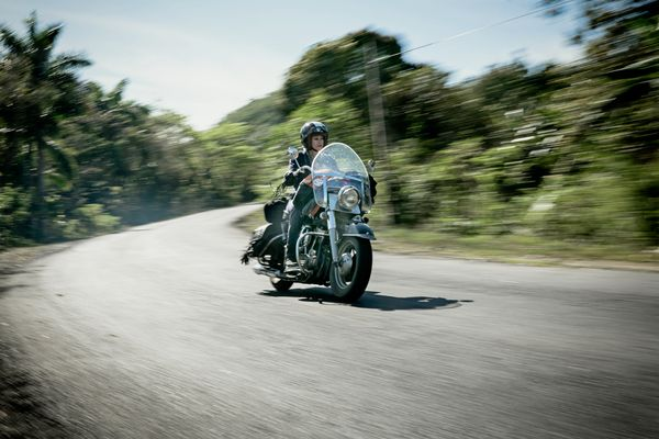 Riding in Cuba is just amazing. It's hot and it feels great.