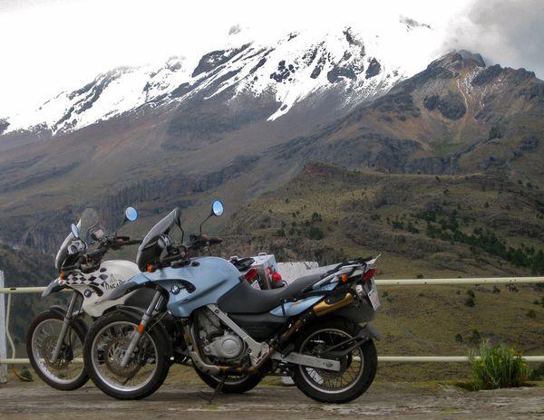 Mandatory bike - volcano shot