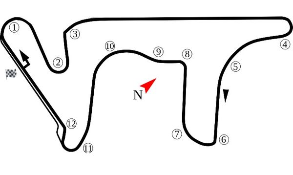 A turn by turn map of the Termos de Rio Hondo Circuit