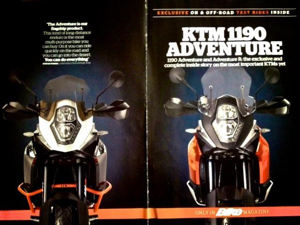 KTM 1190 Adventure Bike Mag cover