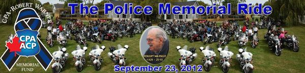 The Police Memorial Ride Toronto, Sep 2012 Banner