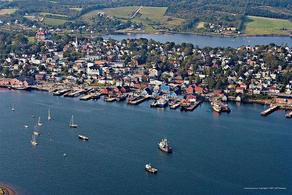 Lunenburg, Nova Scotia from above