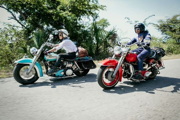 Touring Cuba on classic Harley-Davidsons