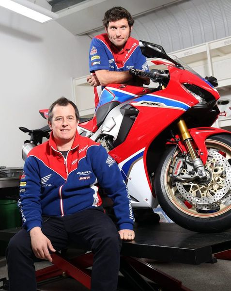Martin and McGuinness with the new SP2 FireBlade