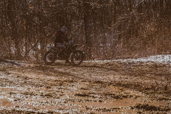 Grand Prix de Snow - mud was flying in every direction