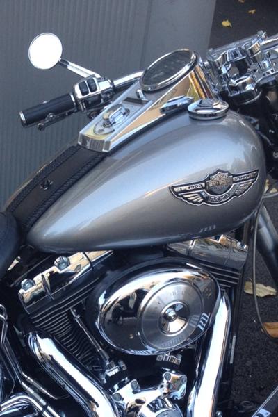 2003 Harley Davidson Fat Boy - close up view