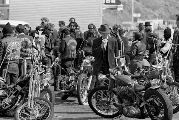 A Gentleman among Hells Hogs.  Bill Ray/Getty Images