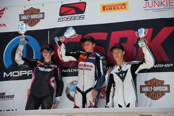 Podium Race #10 CBR250R CSBK