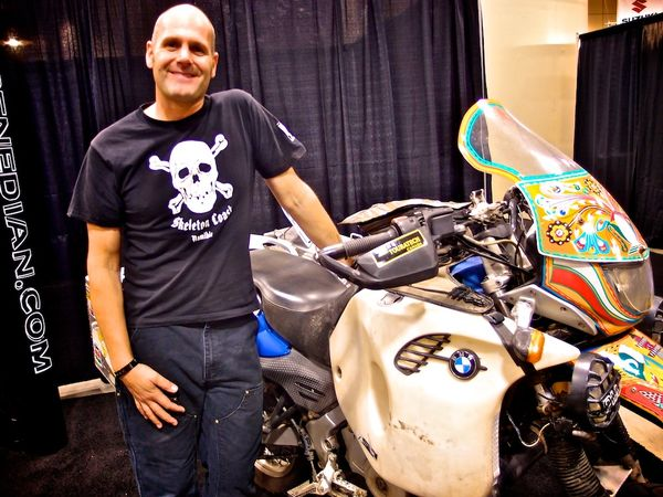 Rene Cormier and his BMW GS