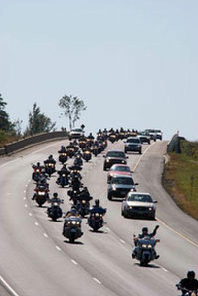 The Police Memorial Ride, motorcade.