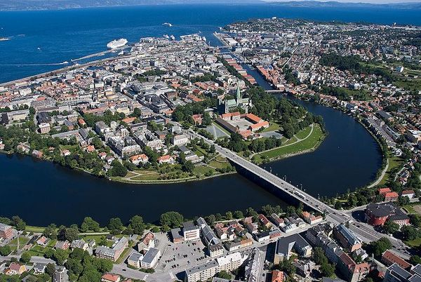 View from the Sky,Trondheim City Norway