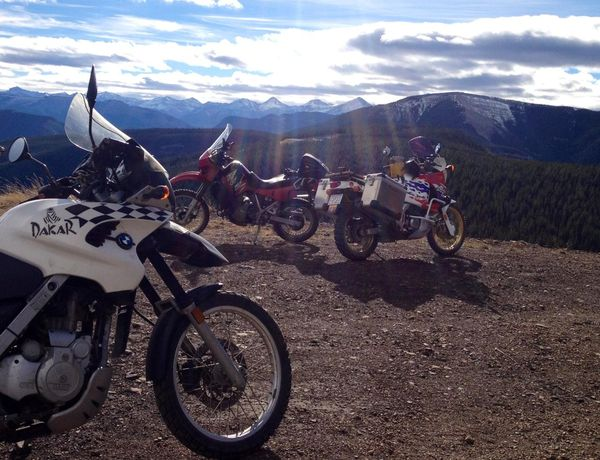 A perfect day for riding in the mountains near Calgary