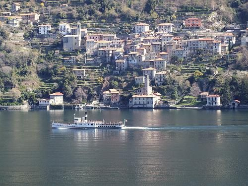 Italy - Nesso Lakehouses - view across water