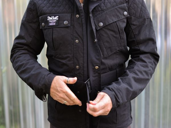 Liking the fit on the Triumph Quilted Barbour