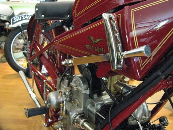 1924 Moto Guzzi C4V engine