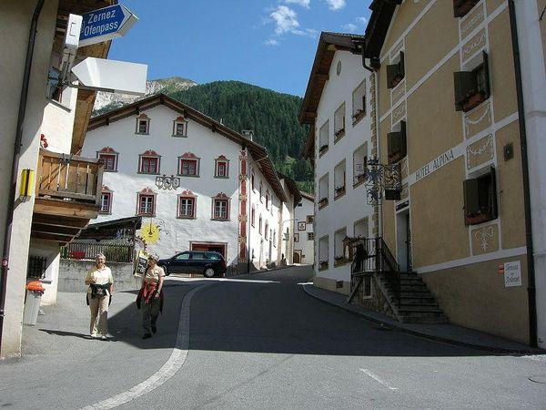 Downtown Santa Maria Val Müstair, Switzerland