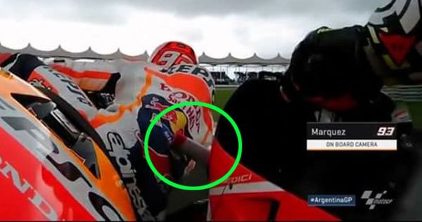 Marquez getting a little too close to some Winglets