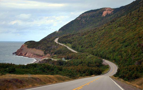 Turns on Nova Scotia Cabot Trail