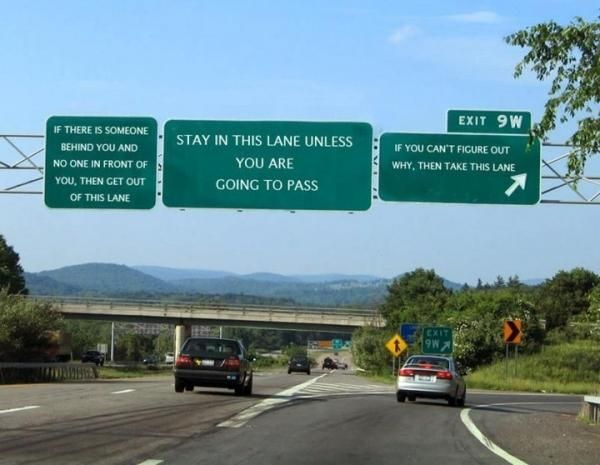 Proposed new road signs
