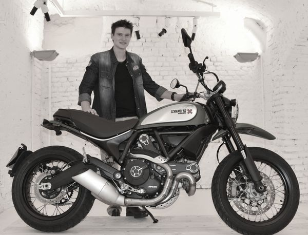 Julien Clement, 26 is the designer who drew the Ducati Scrambler