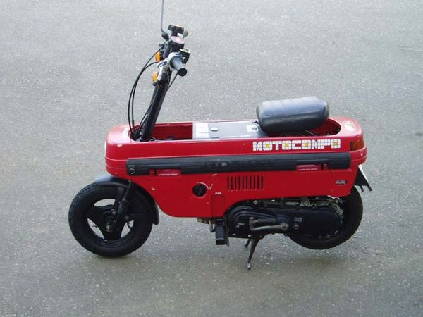 Honda Motocompo mini motorcycle unfolded and ready for action