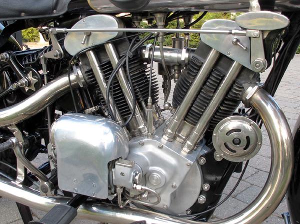 1925 Brough Superior SS 100 Alpine GS engine