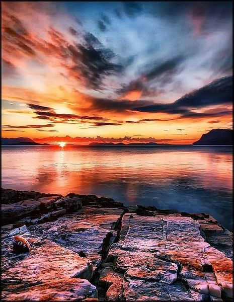 Midnight Sun in Harstad, Norway