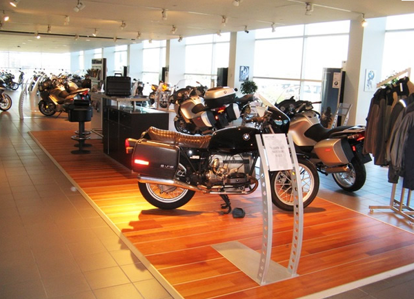 BMW Toronto Motorrad showroom; the half of the place that works