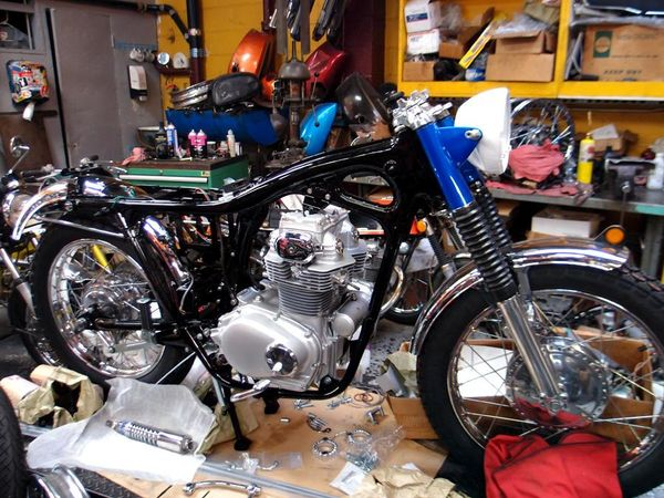 1968 Honda CL350 restoration project