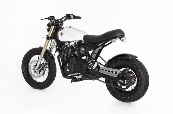 Honda NX650 – Deus Dominari rear quarter view