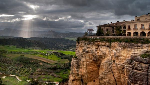 Cliff-side view Ronda, Spain