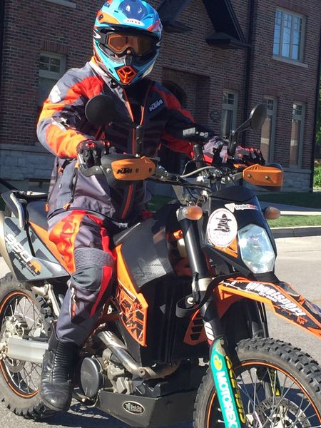 Only KTM could pull off orange & red & black & grey & blue