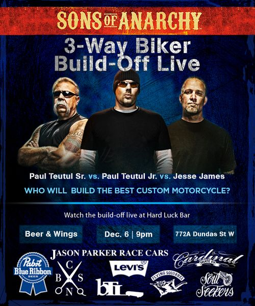 Sons of Anarchy Biker Build-Off Live, Dec 6-11, Toronto