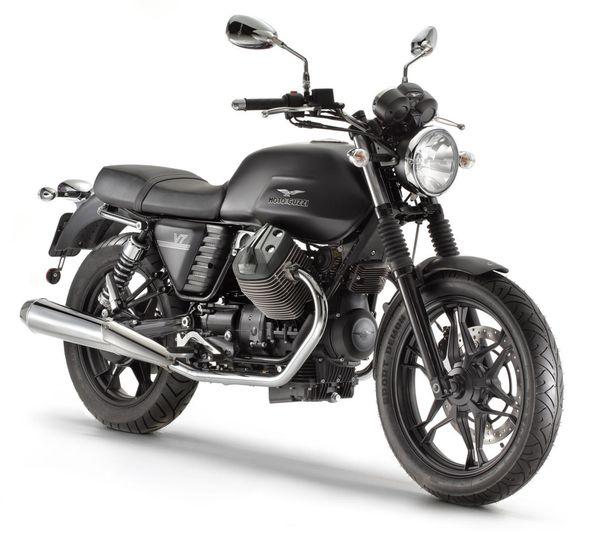2013 Moto Guzzi V7 Stone - front quarter view
