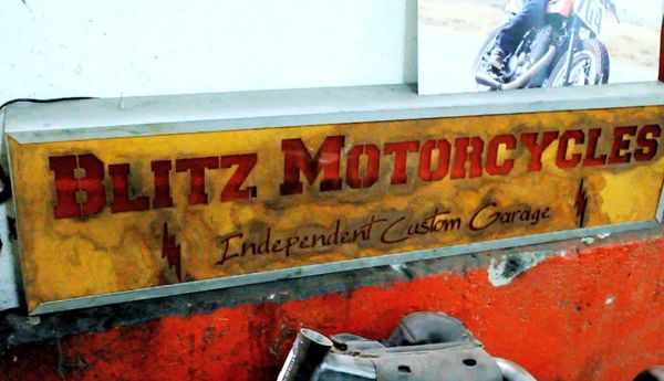 Blitz Motorcycles Sign