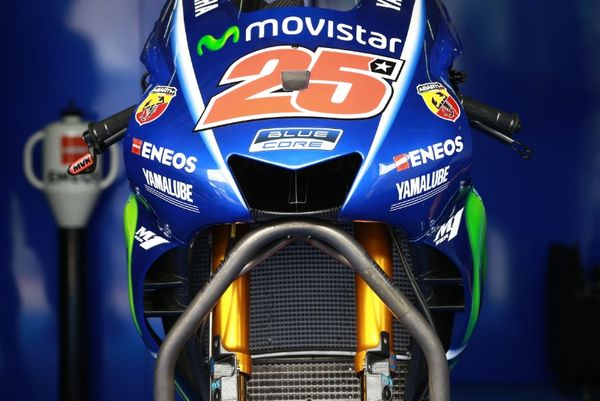 Movistar Yamaha's new internal Winglets up close