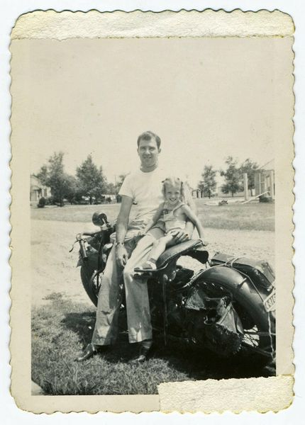 My grandpa on his 1940 Indian, RIP