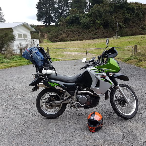 first big ride on the KLR.