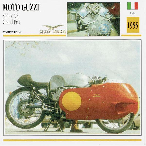 Moto Guzzi 500 cc V8 Grand Prix card