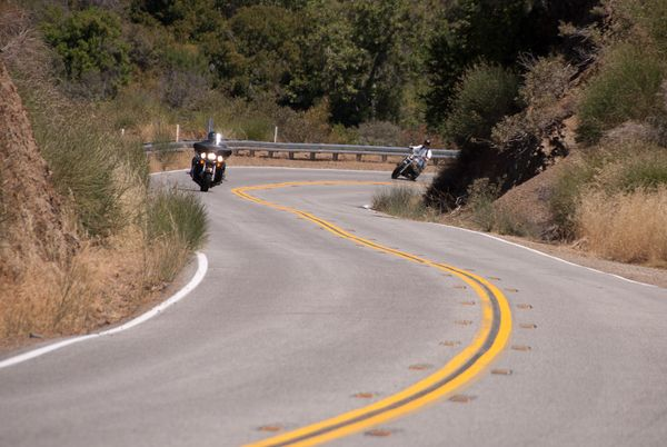 Riding through Los Padres Hwy 33